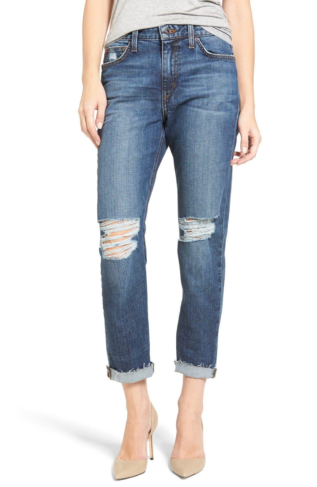 Alternate Image 1 Selected - Joes Jeans Debbie High Waist Ripped Boyfriend Jeans (Coppola)