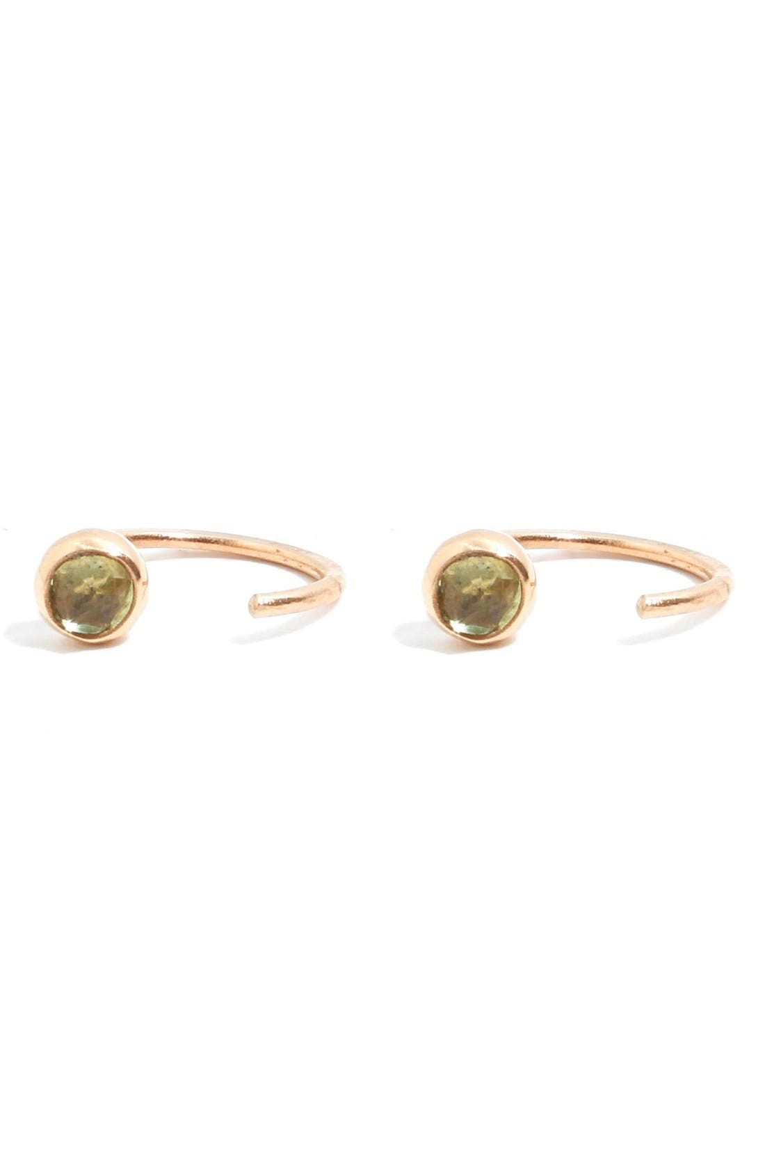 Main Image - Melissa Joy Manning Peridot Hug Hoop Earrings