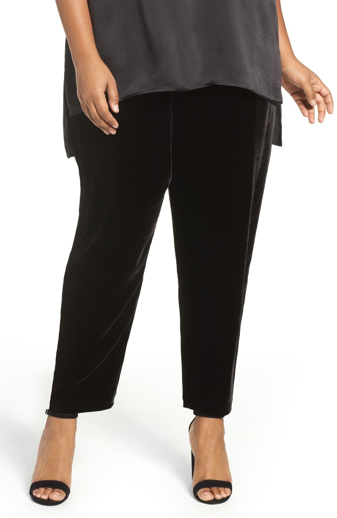 Eileen Fisher Velvet Ankle Pants (Plus Size)
