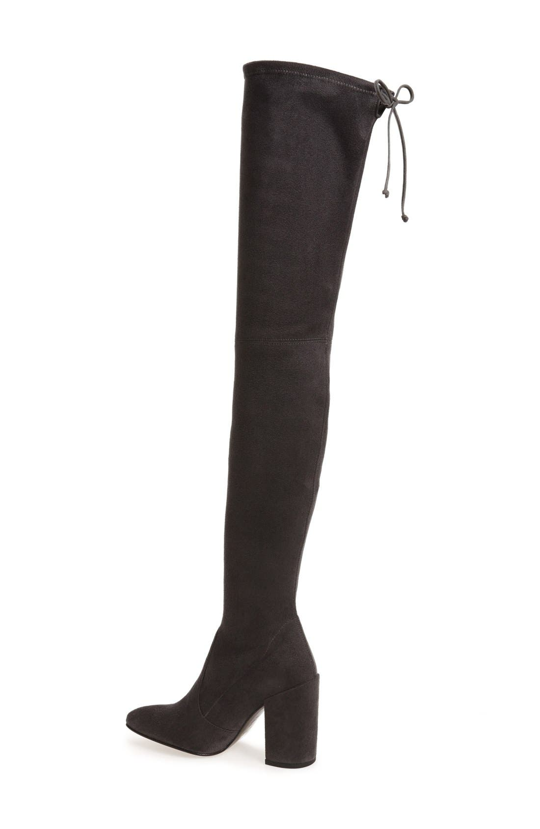 'All Legs' Thigh High Boot,                             Alternate thumbnail 2, color,                             Grey Ultrastretch