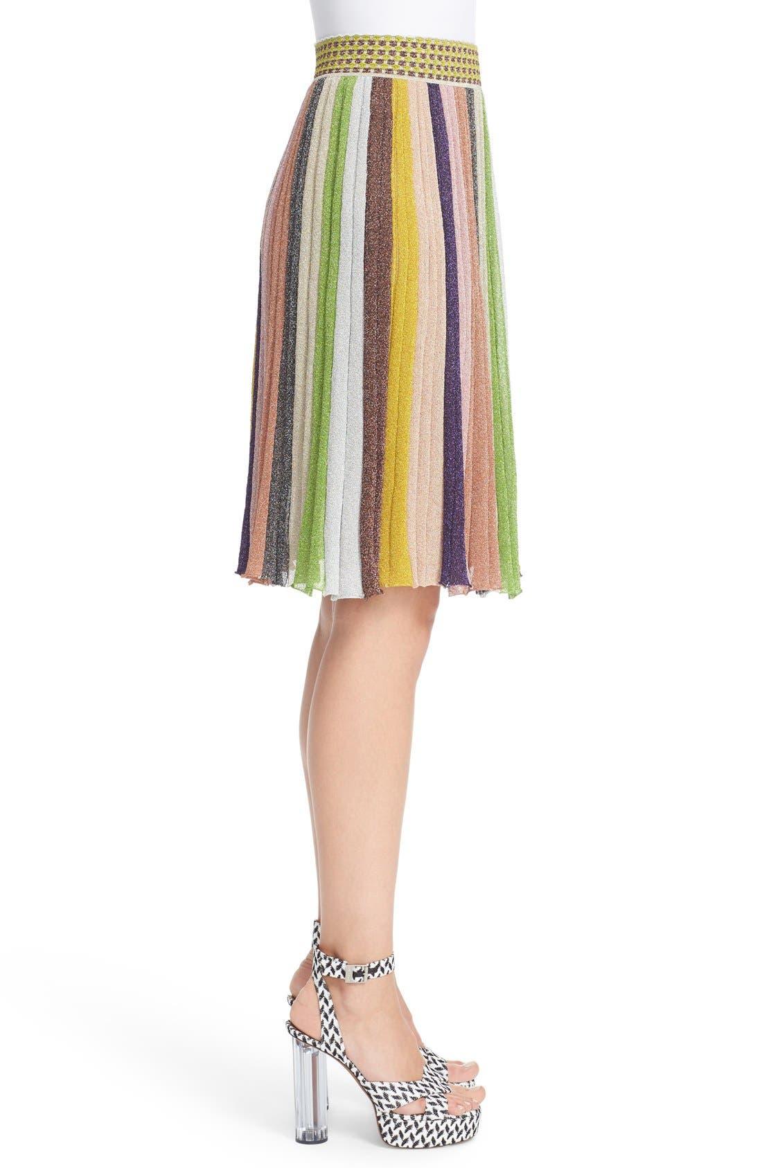 Alternate Image 5  - Missioni Metallic Stripe Skirt