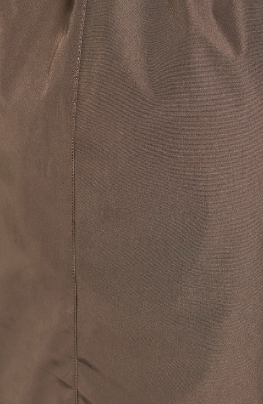 Hooded Trench Coat,                             Alternate thumbnail 5, color,                             Dark Taupe