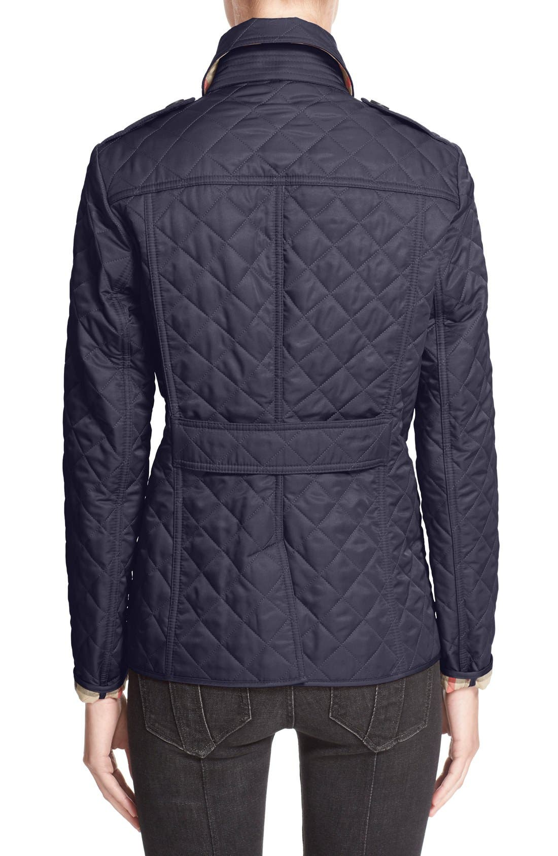 Ashurst Quilted Jacket,                             Alternate thumbnail 2, color,                             Navy