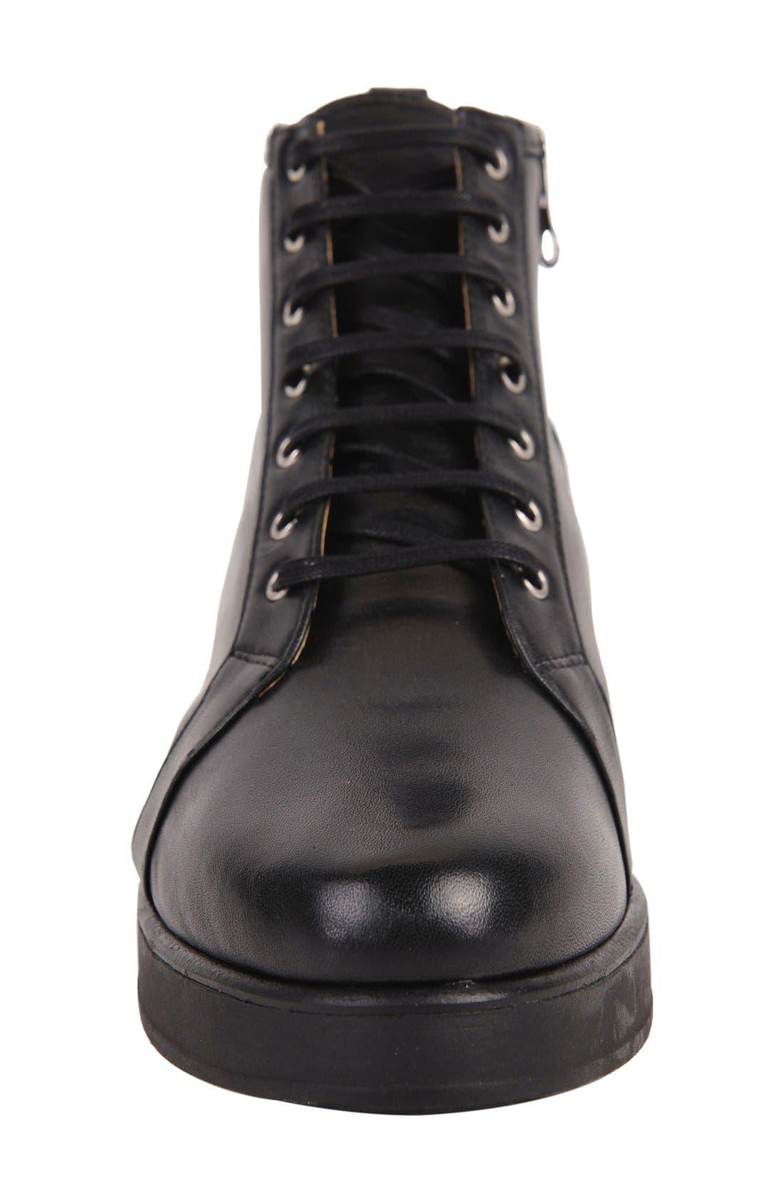Alberta Bootie,                             Alternate thumbnail 3, color,                             Black Leather