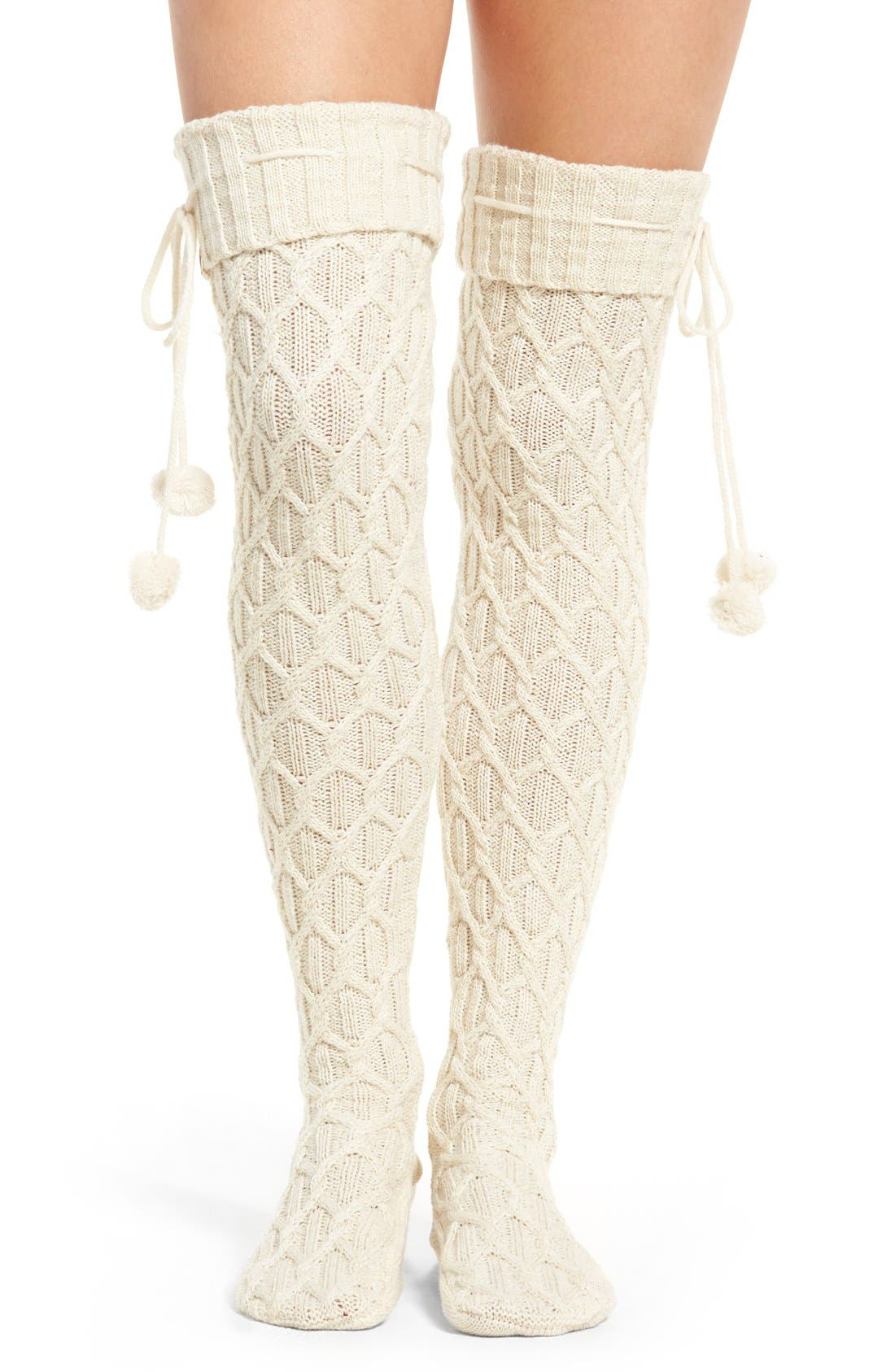 Alternate Image 1 Selected - UGG® Sparkle Cable Knit Socks