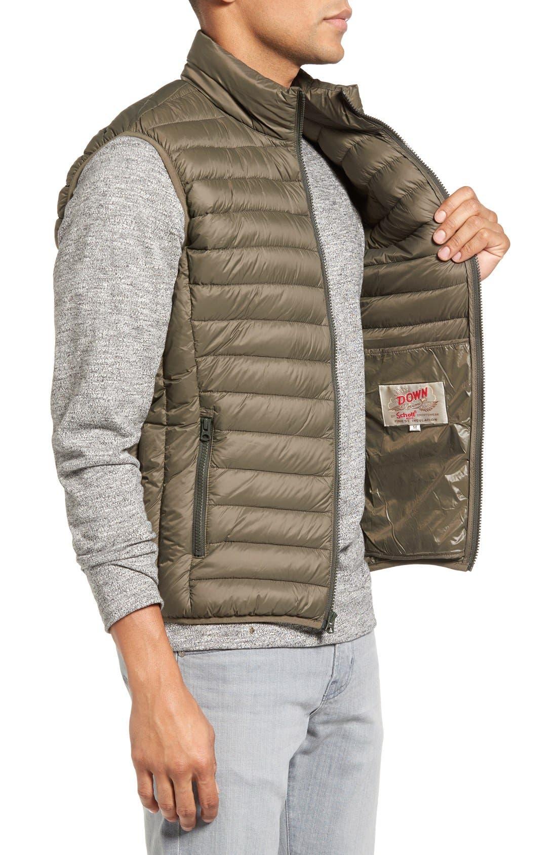 Alternate Image 3  - Schott NYC Lightweight Quilted Down Vest