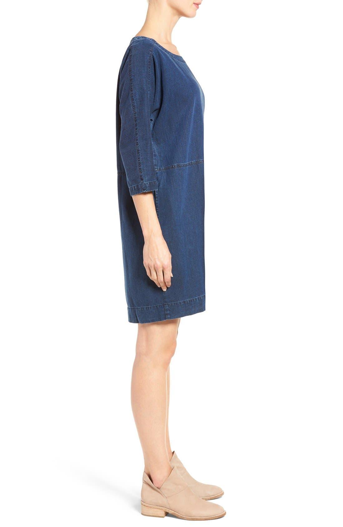 Alternate Image 4  - Eileen Fisher Denim Shift Dress