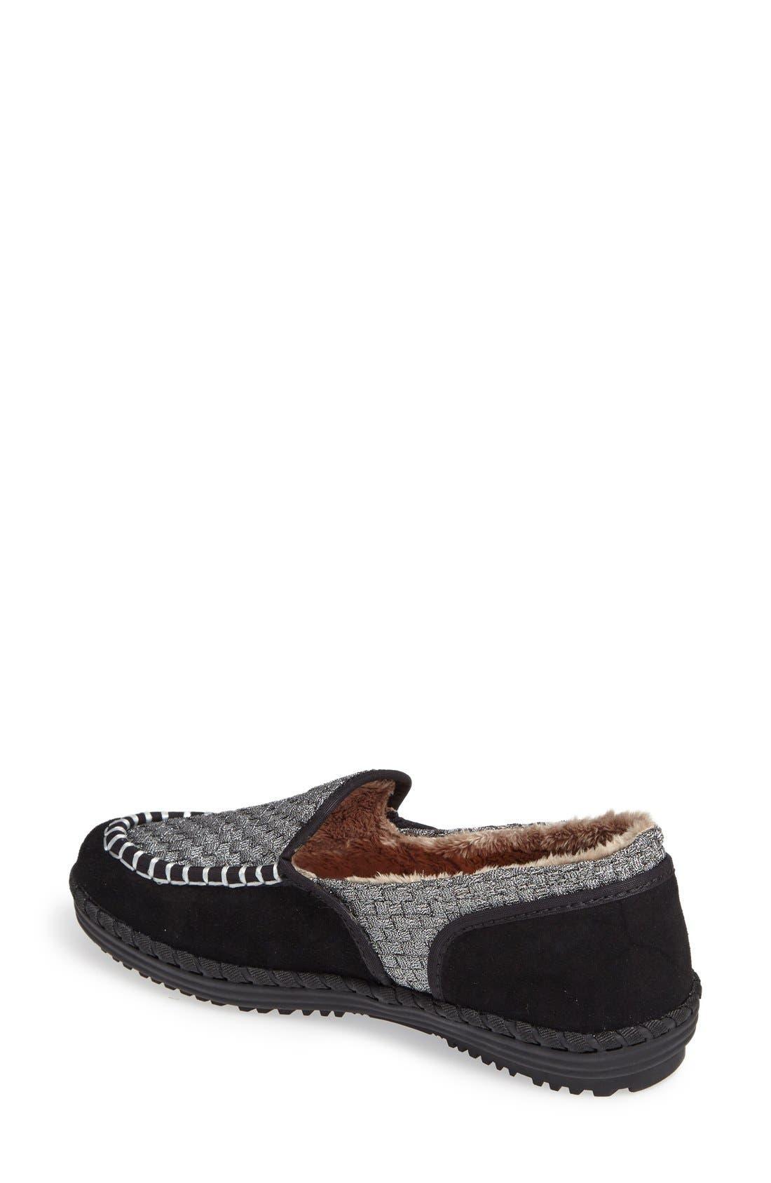 Alternate Image 2  - bernie mev. Faux Fur Lined Loafer Slipper (Women)