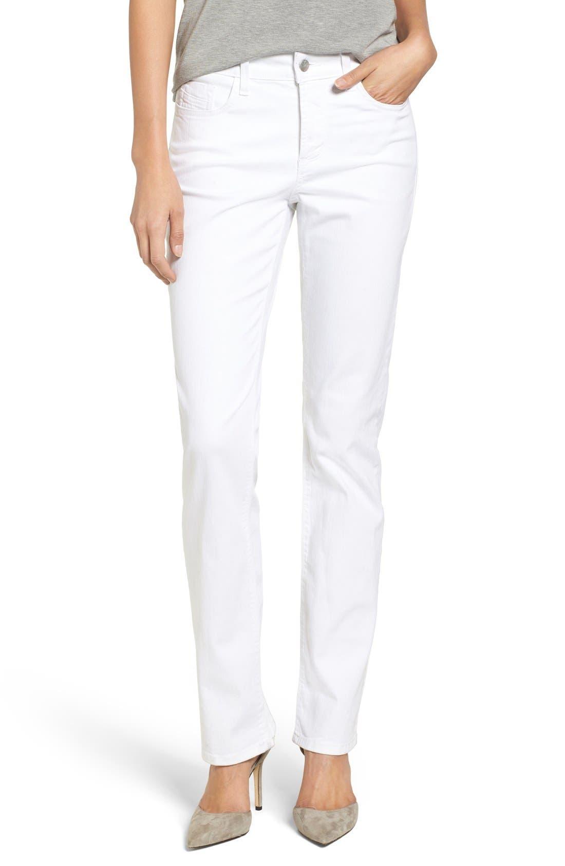 NYDJ Marilyn Stretch Straight Leg Jeans (Clay) (Regular & Petite)