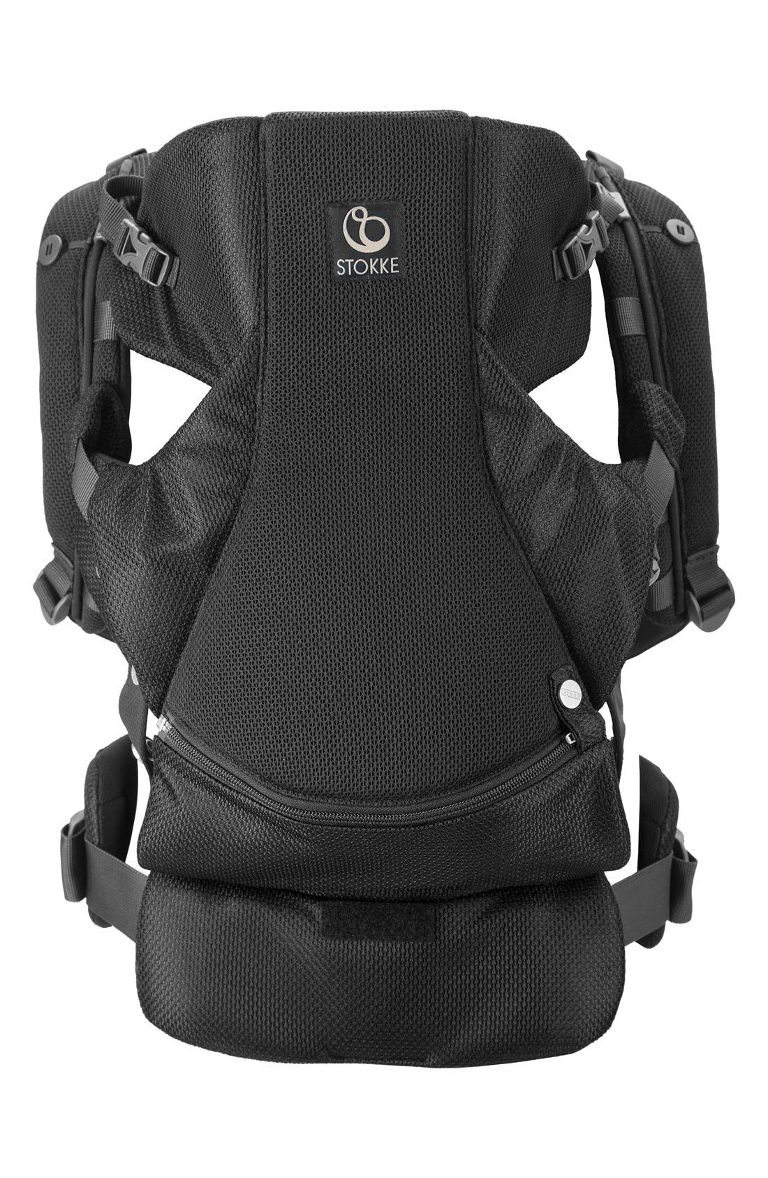 MyCarrier<sup>™</sup> Front Baby Carrier,                         Main,                         color, Black Mesh