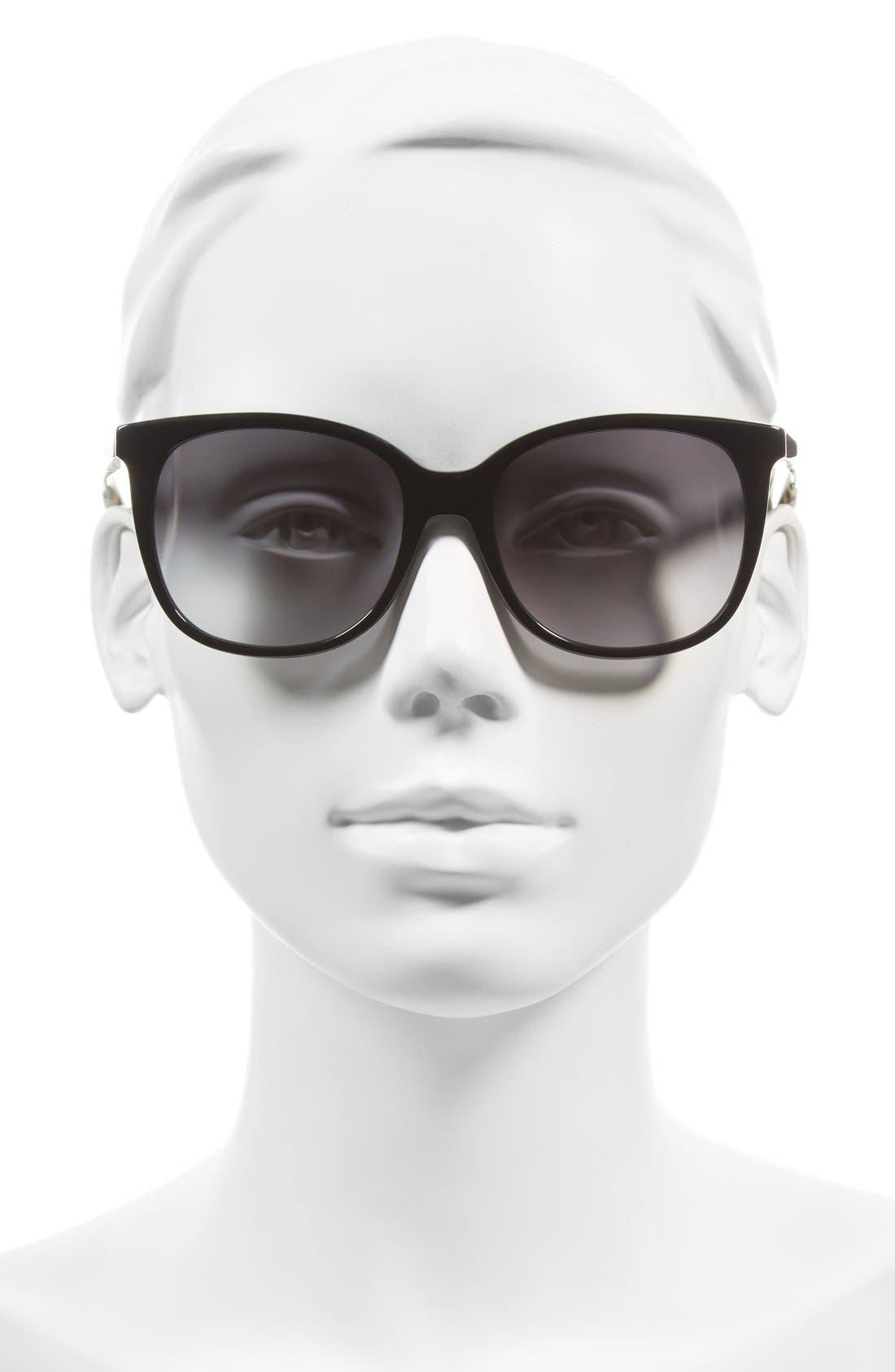 julieanna 54mm sunglasses,                             Alternate thumbnail 2, color,                             Black/ Gold