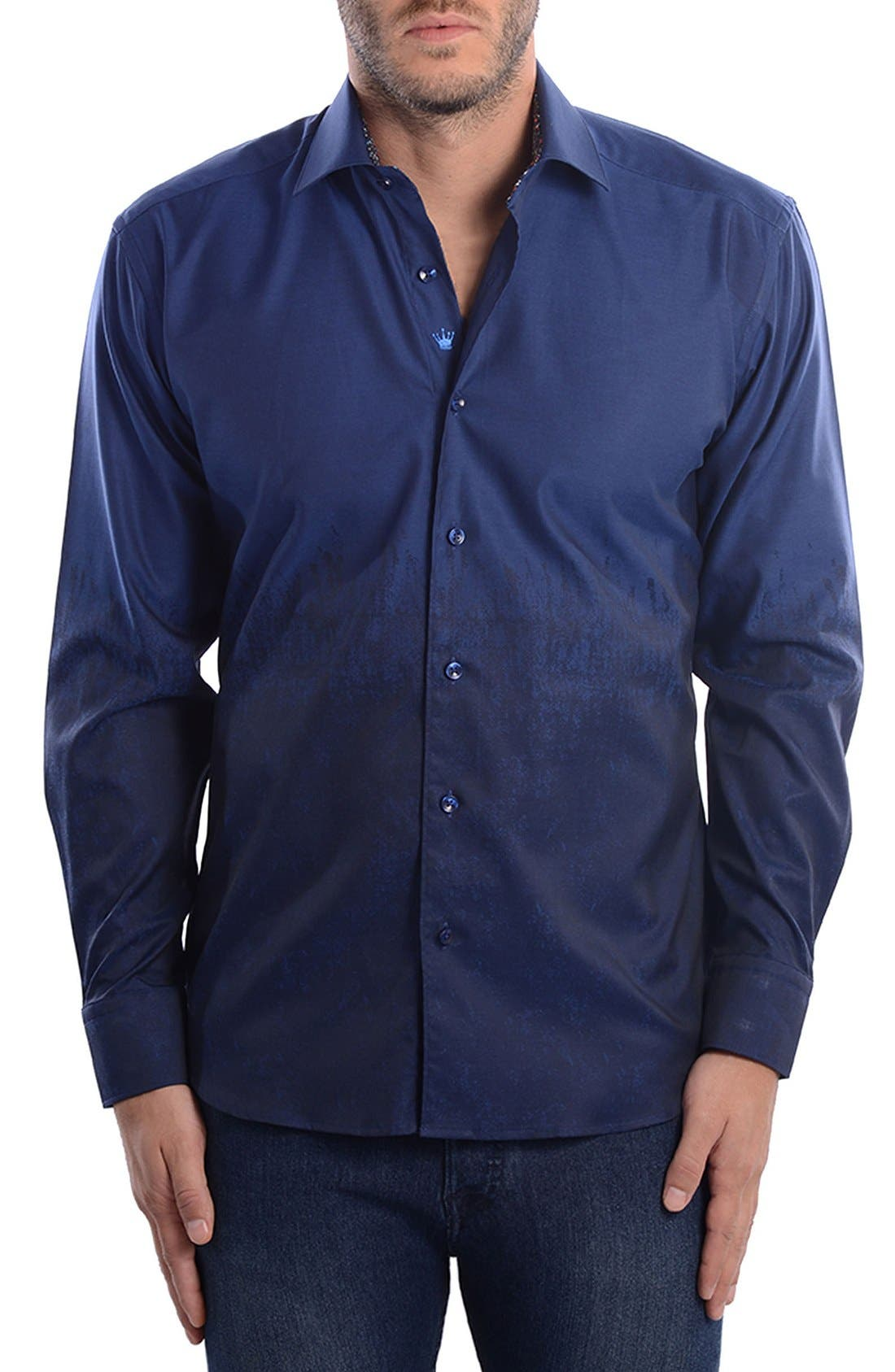 Alternate Image 3  - Bertigo Abstract Modern Fit Sport Shirt