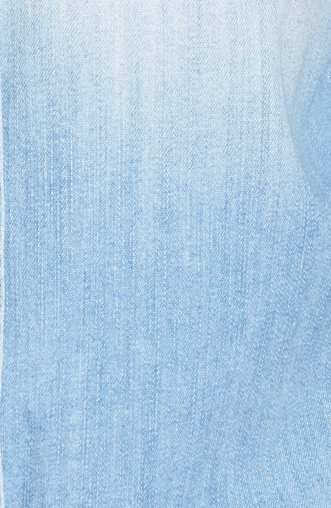 Alternate Image 5  - 7 For All Mankind® Torn Pocket Denim Boyfriend Shirt