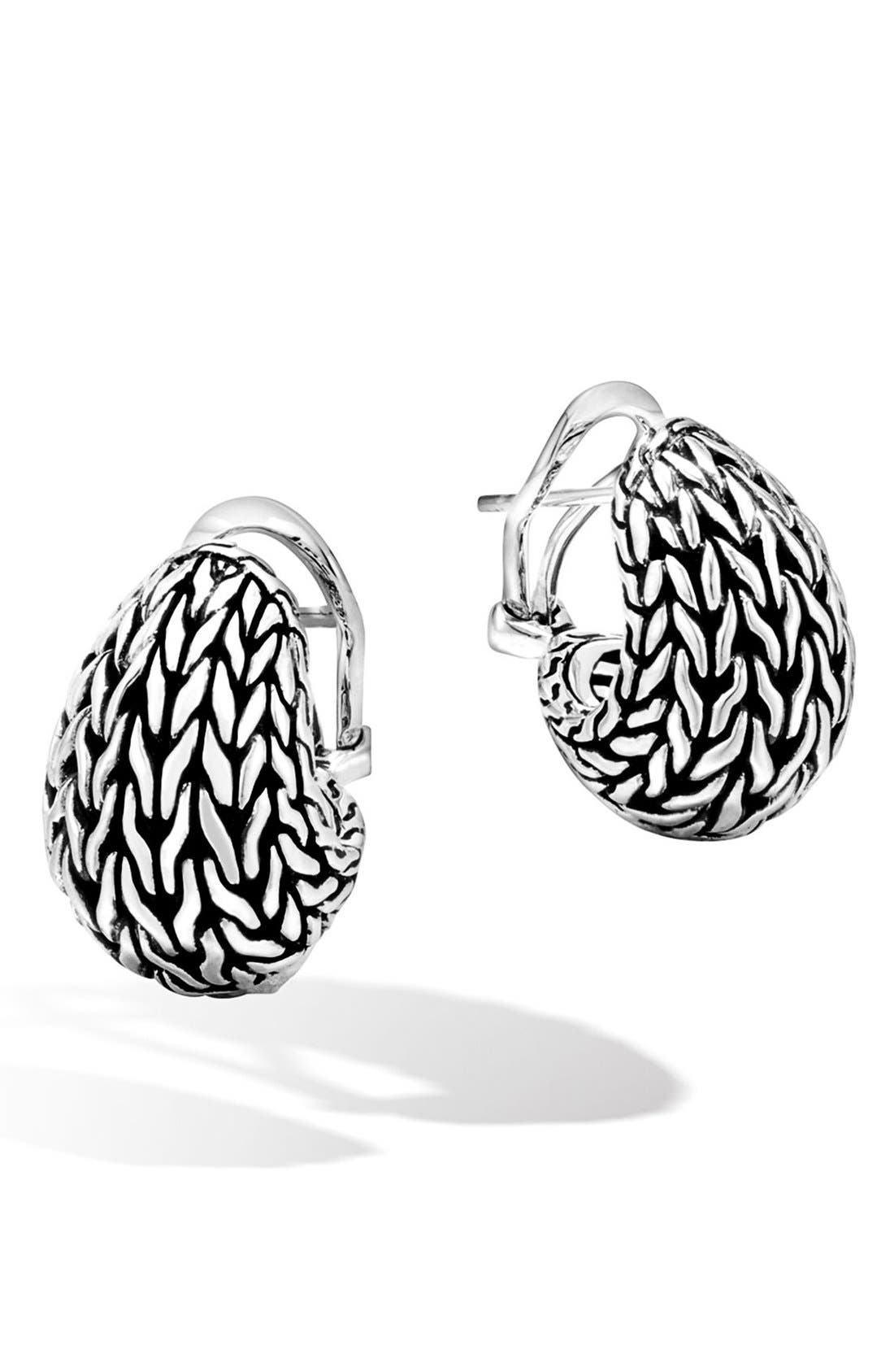 Classic Chain Buddha Belly Earrings,                         Main,                         color, Silver
