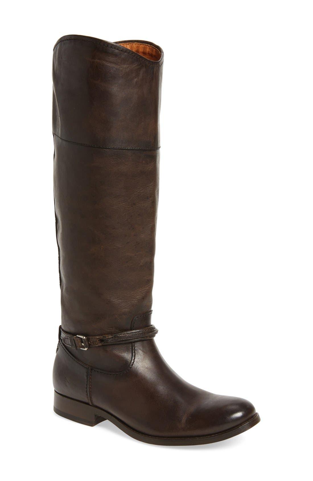Melissa Seam Boot,                             Main thumbnail 1, color,                             Slate Leather