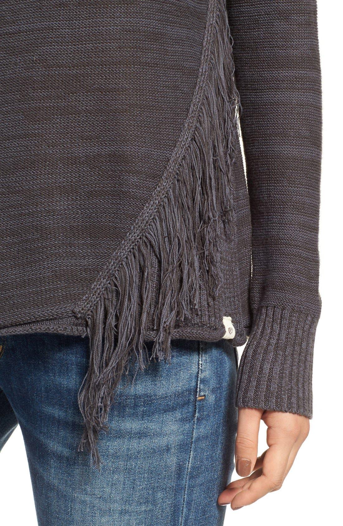 Alternate Image 4  - Rip Curl Hudson Fringe Knit Pullover