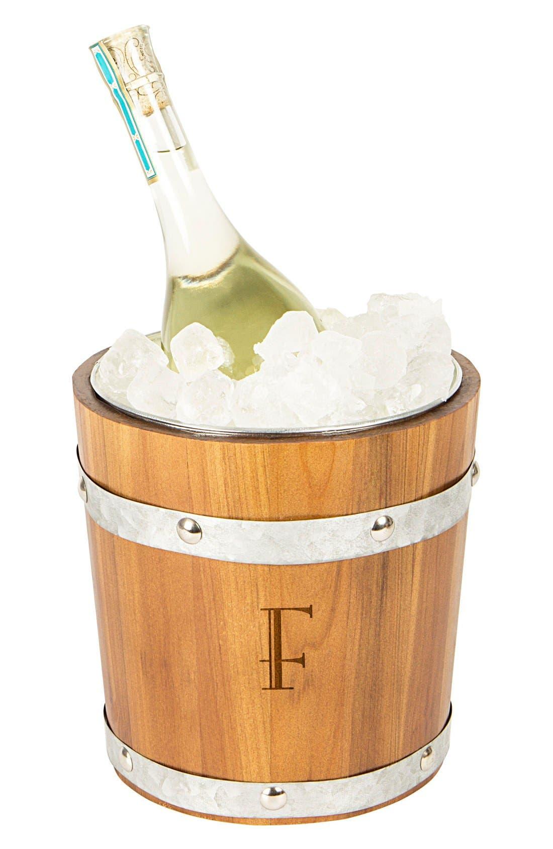 Rustic Monogram Ice Bucket,                         Main,                         color, F