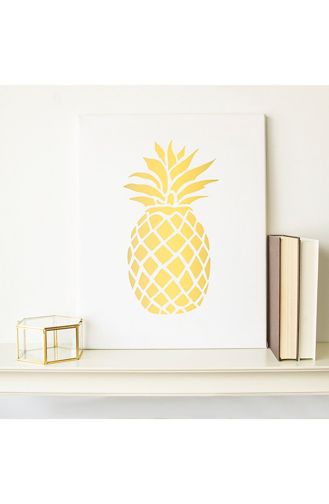 Pineapple Sign,                             Main thumbnail 1, color,                             Gold