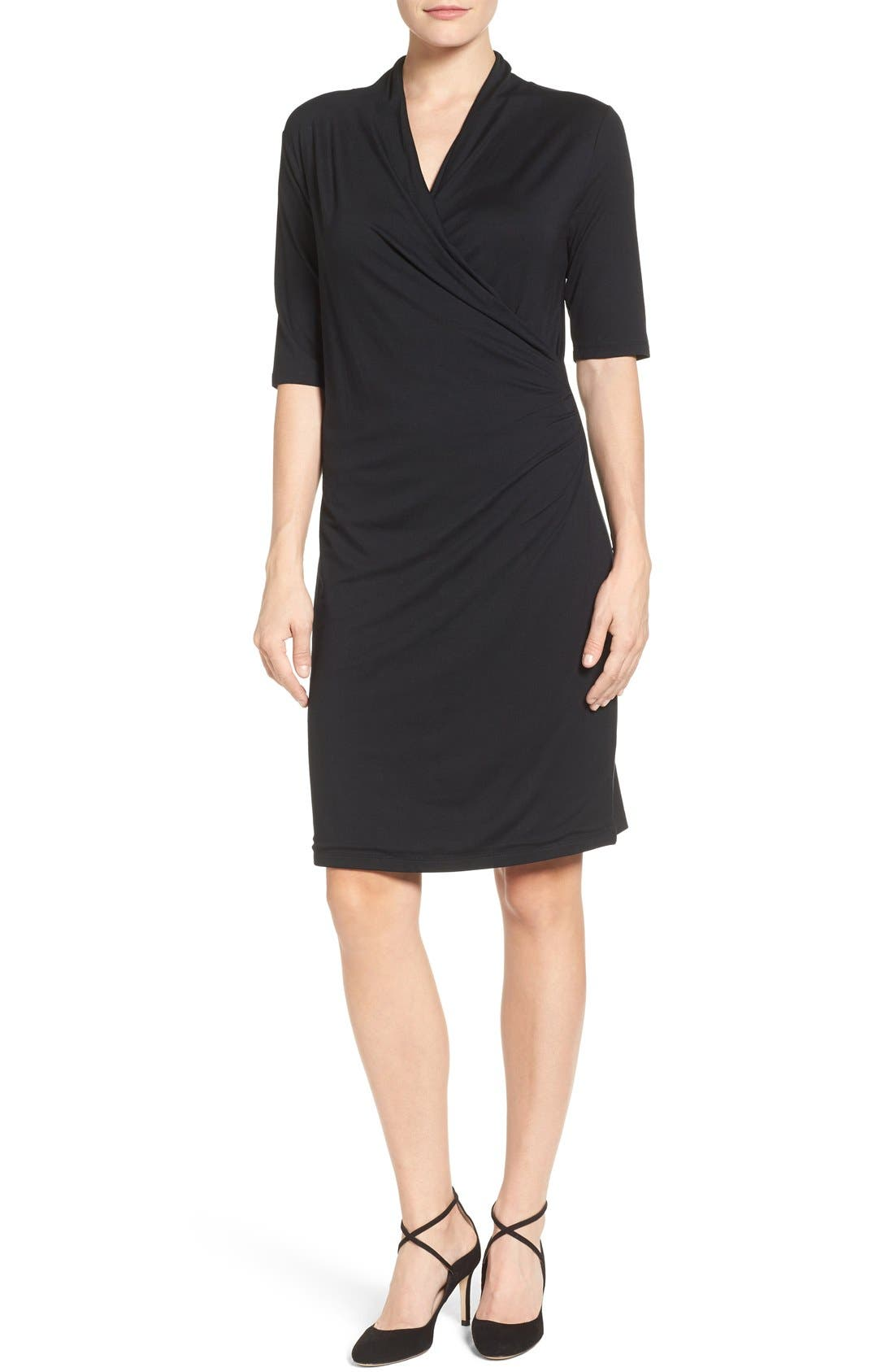 Press Faux Wrap Dress