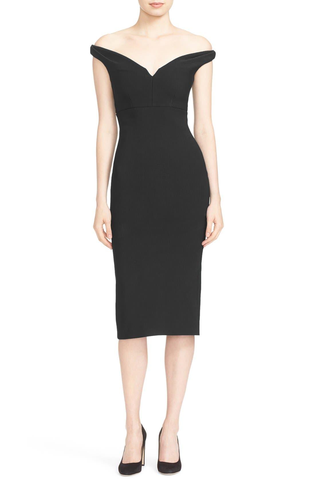 Cinq à Sept Garnet Off the Shoulder Dress