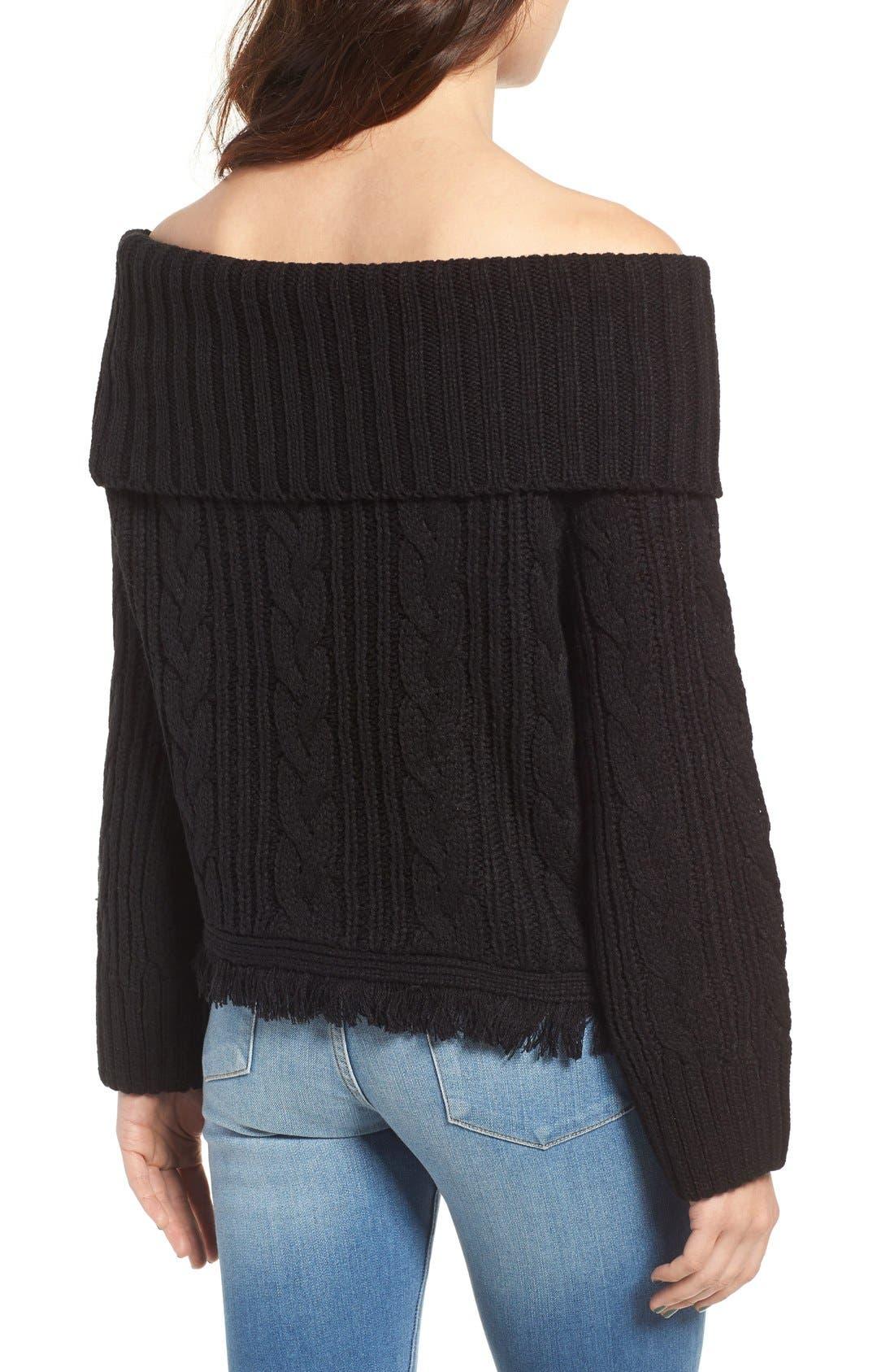 Alternate Image 3  - MOON RIVER Off the Shoulder Sweater