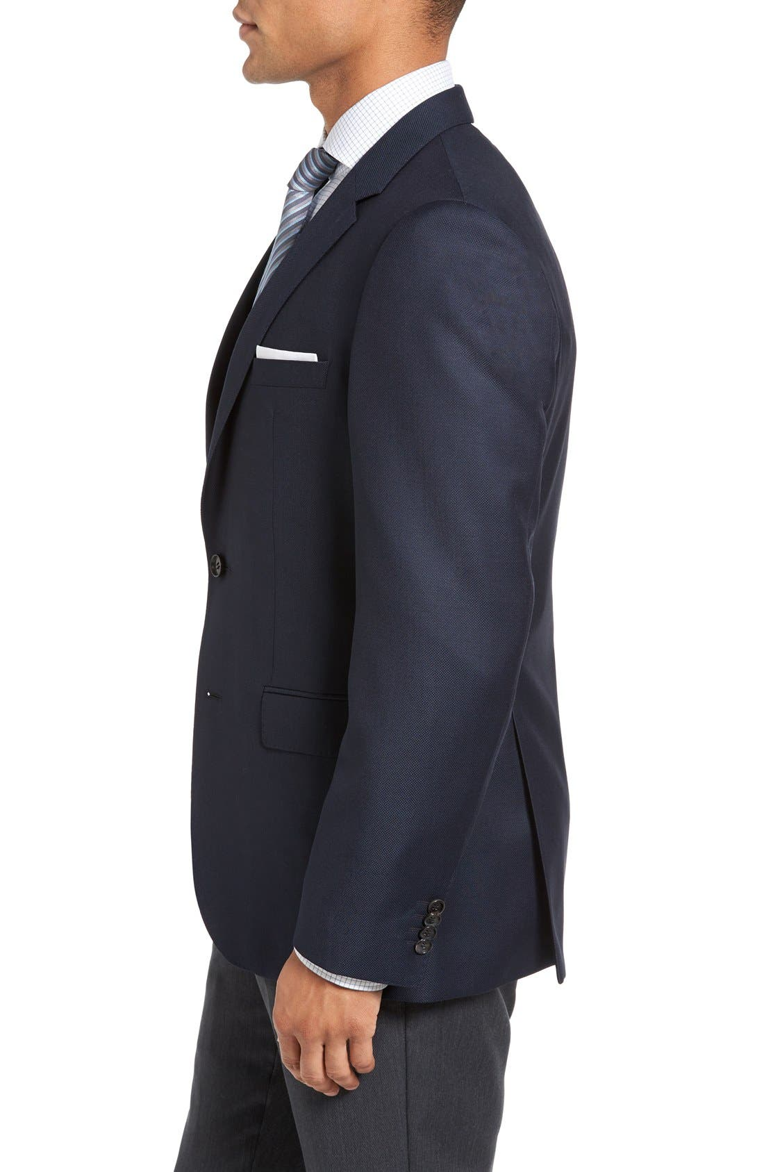 James Classic Fit Wool Blazer,                             Alternate thumbnail 3, color,                             Navy
