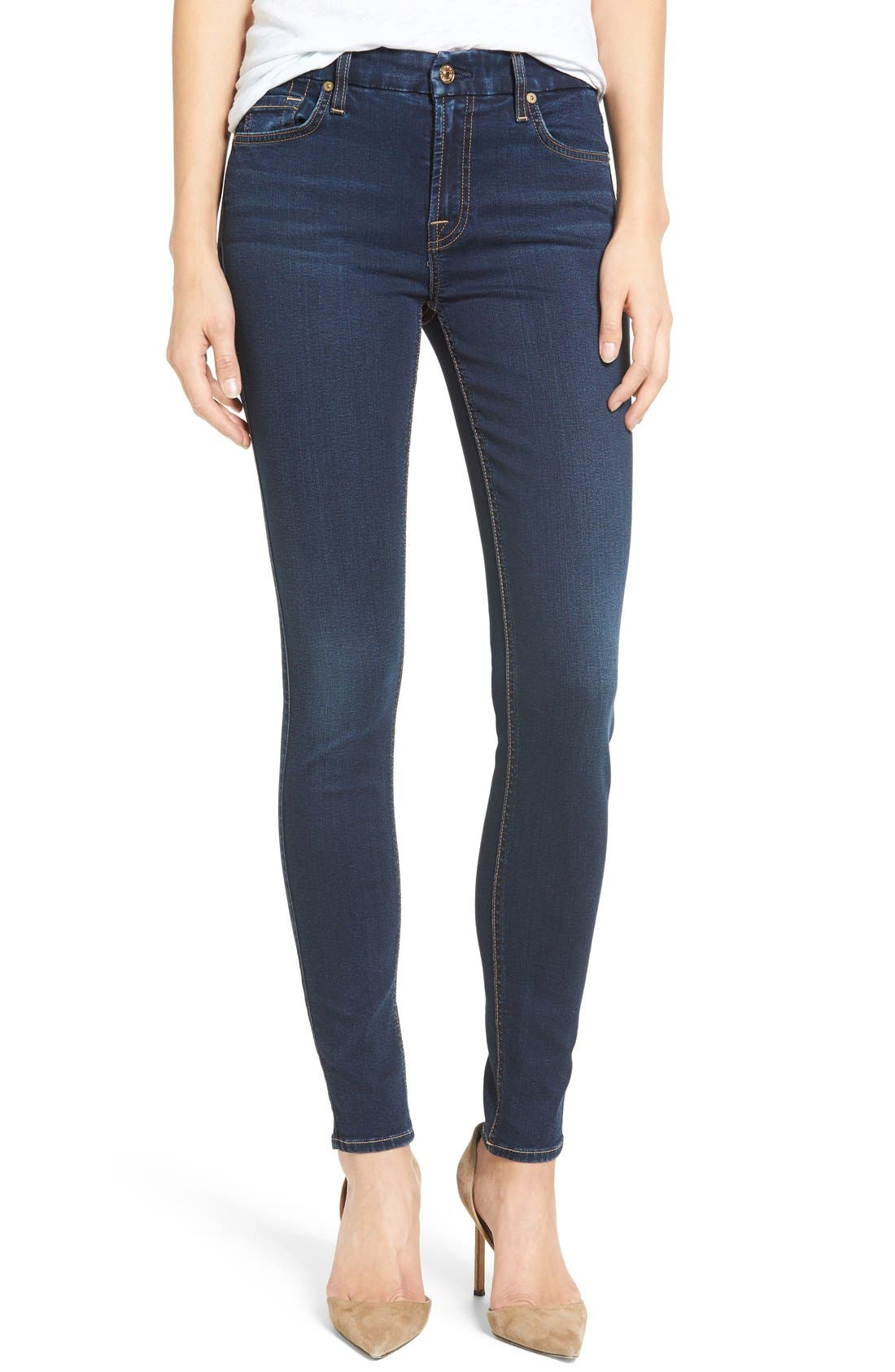 Main Image - 7 For All Mankind® b(air) Skinny Jeans (Bair Tranquil Blue)