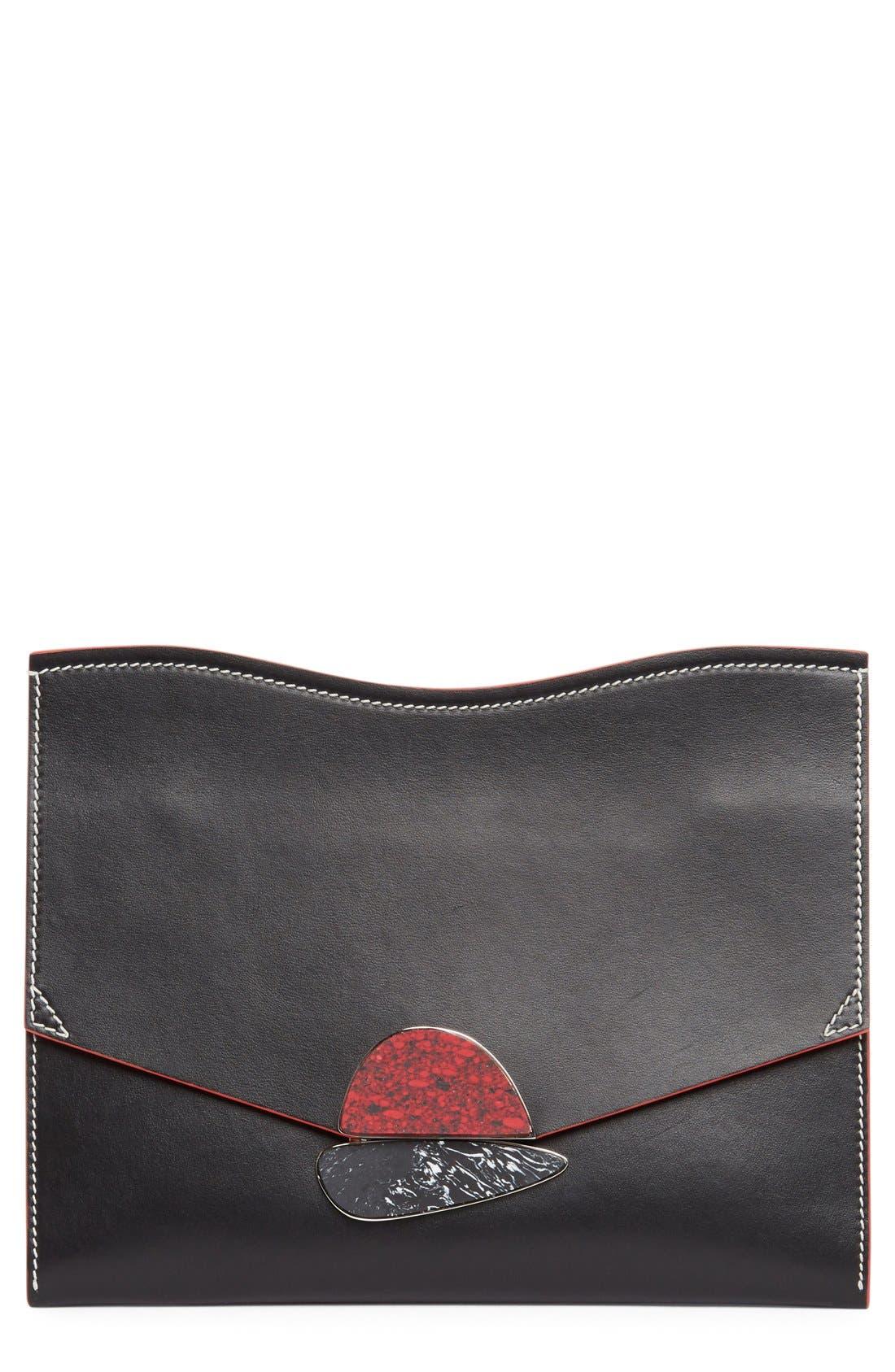 Proenza Schouler Medium Calfskin Leather Clutch