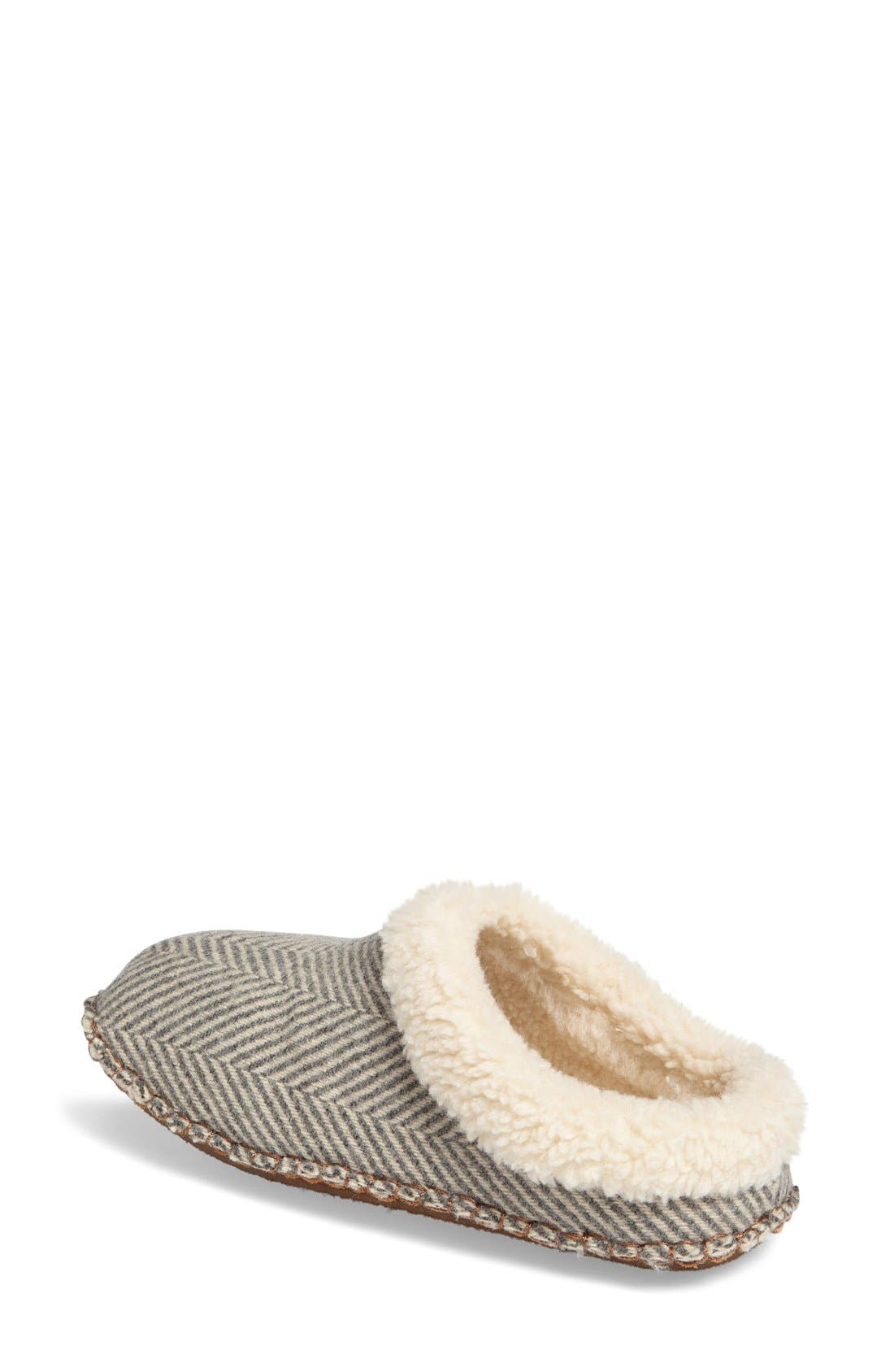 Lodge Slipper,                             Alternate thumbnail 2, color,                             Herringbone Wool