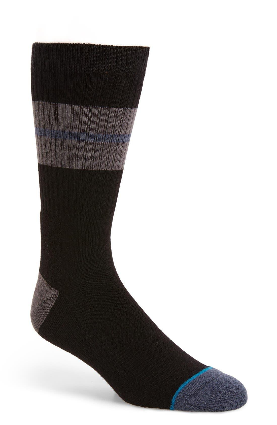 Sequoia Classic Crew Socks,                             Main thumbnail 1, color,                             Black