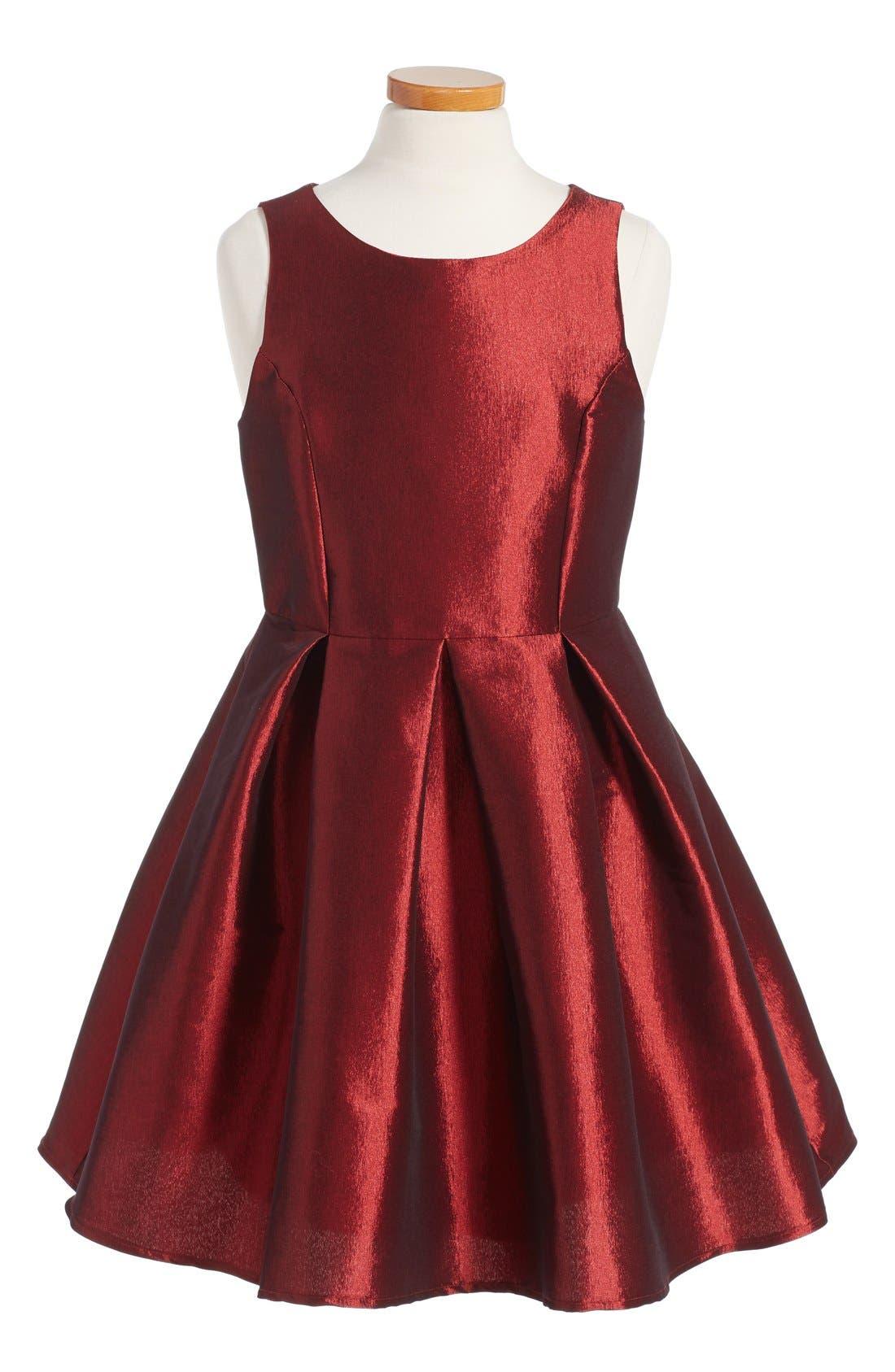 Sleeveless Skater Dress,                         Main,                         color, Rose