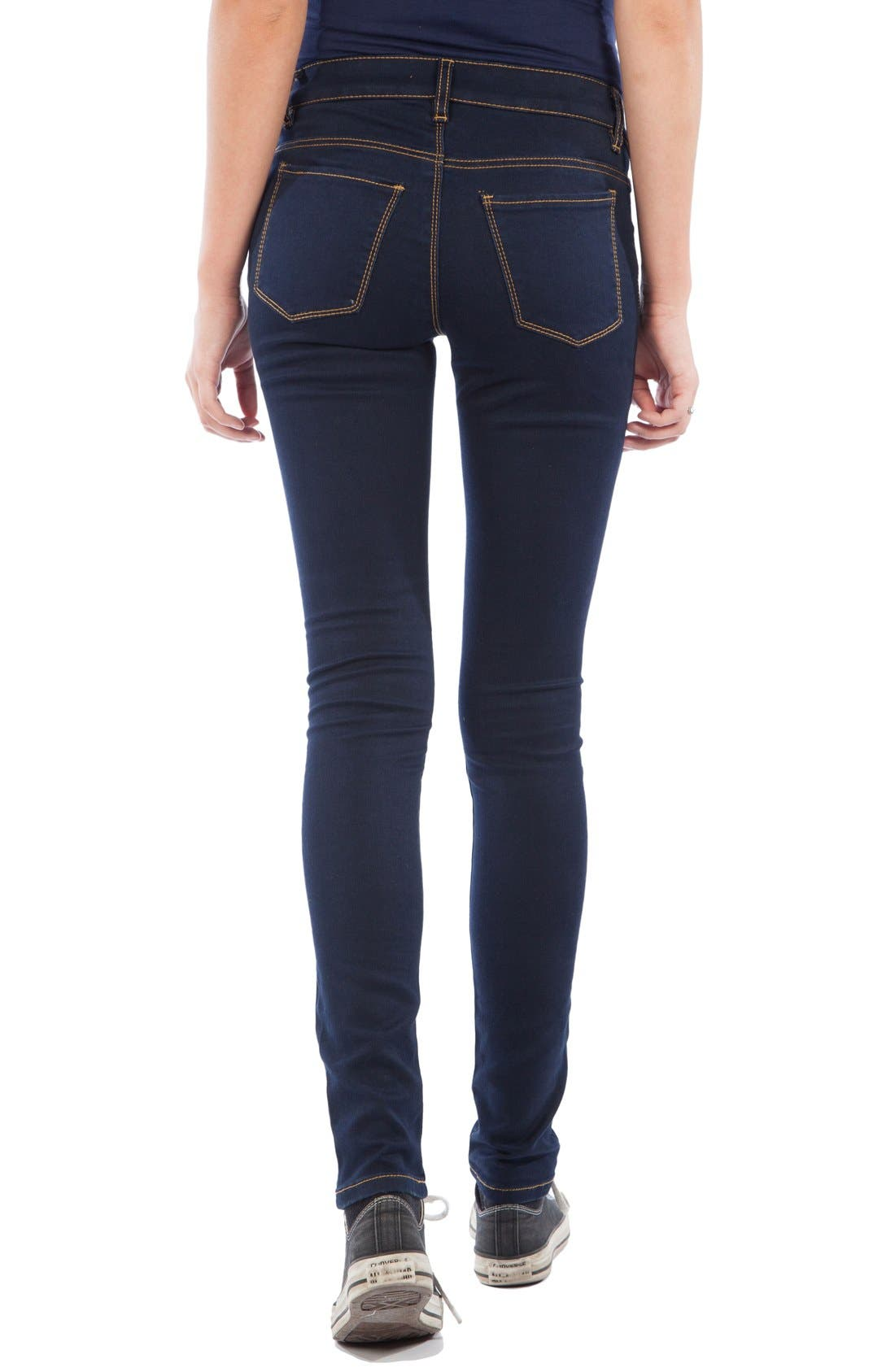 Skinny Maternity Jeans,                             Alternate thumbnail 2, color,                             Dark Blue Wash