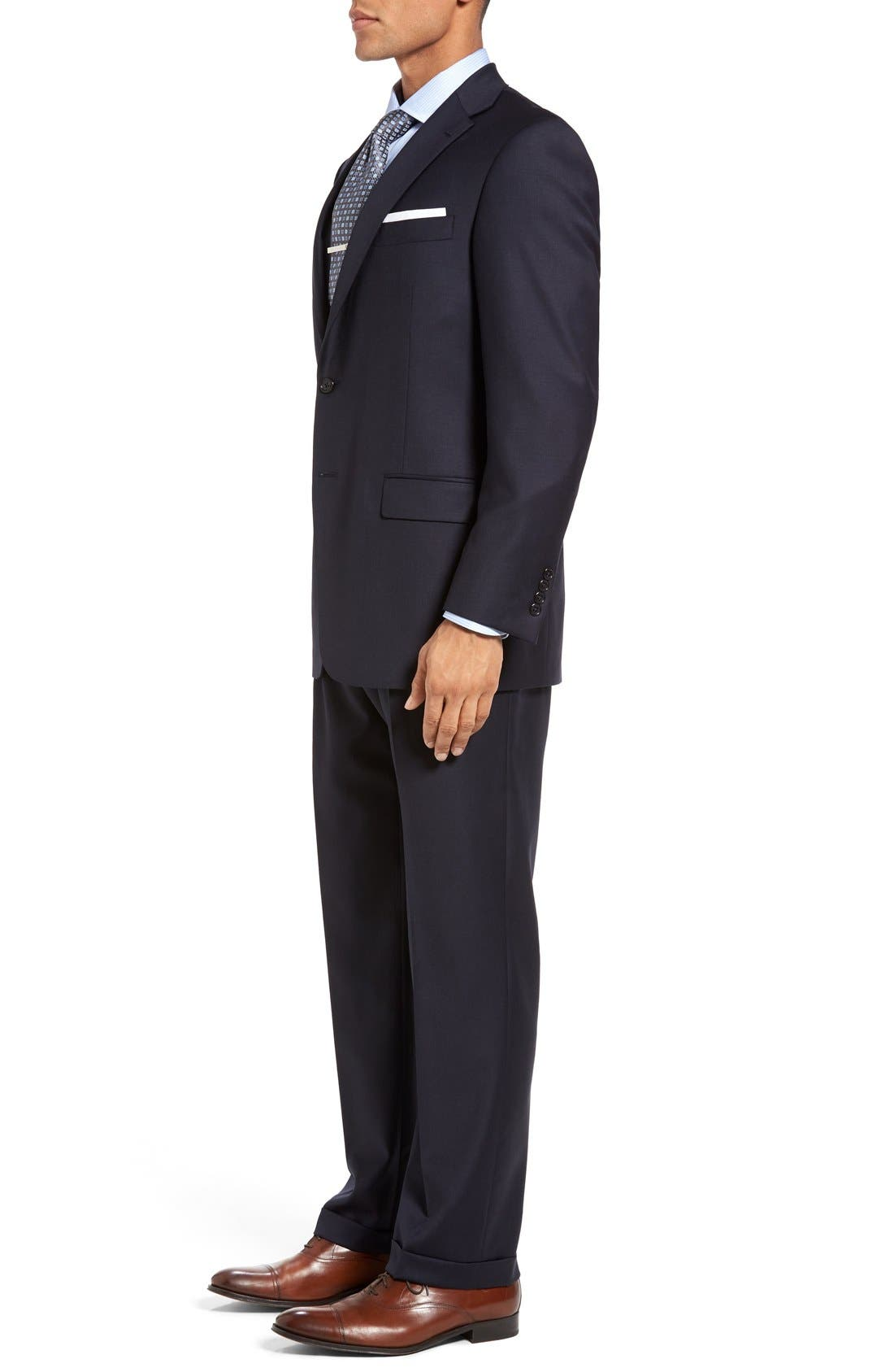 Chicago Classic Fit Solid Wool Suit,                             Alternate thumbnail 3, color,                             Navy