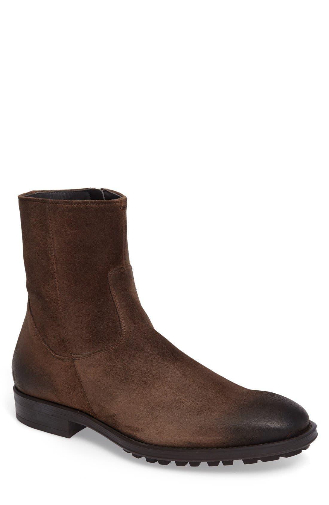 'Harrison' Zip Boot,                         Main,                         color, Brown