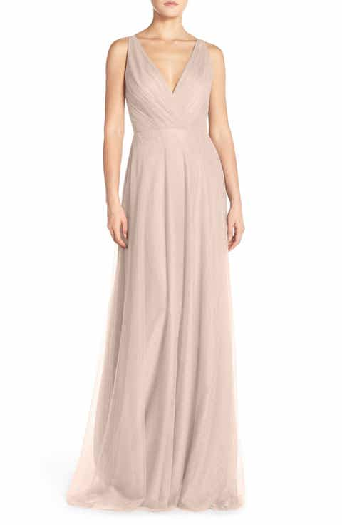 Women 39 s monique lhuillier bridesmaids pink dresses nordstrom for Monique lhuillier pink wedding dress