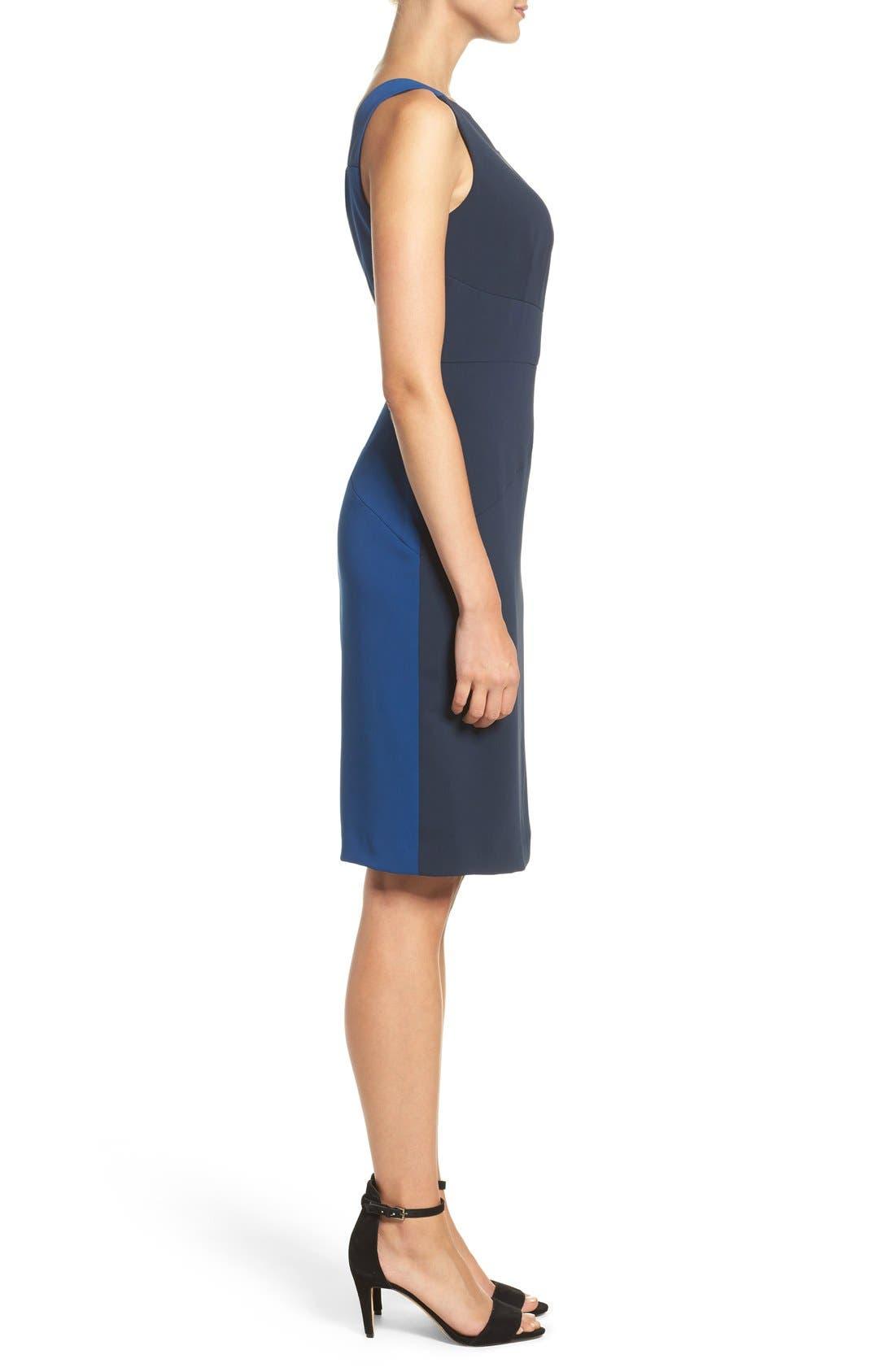 Alternate Image 4  - Adrianna Papell Colorblock Stretch Sheath Dress