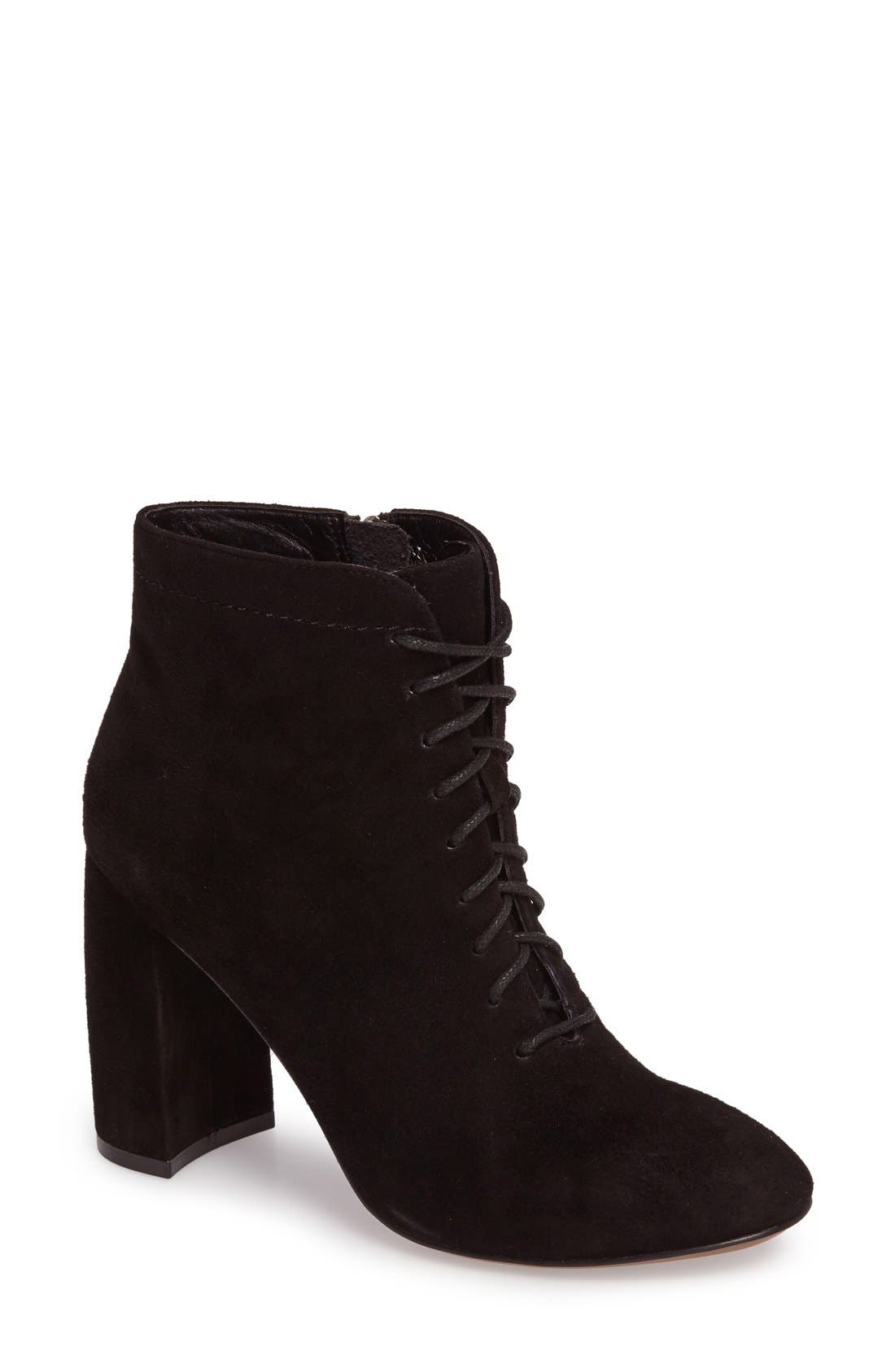 Alternate Image 1 Selected - Linea Paolo Brandy Lace-Up Zip Bootie (Women)