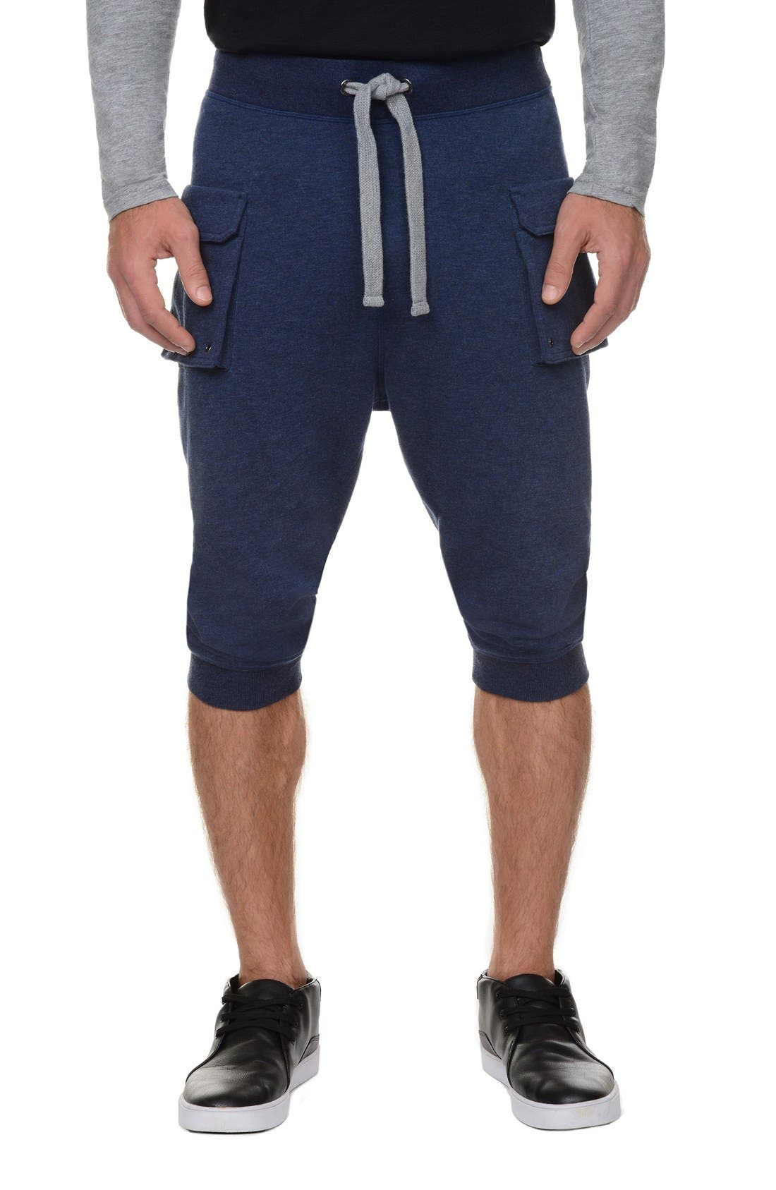 Crop Pants,                             Main thumbnail 1, color,                             Denim Heather