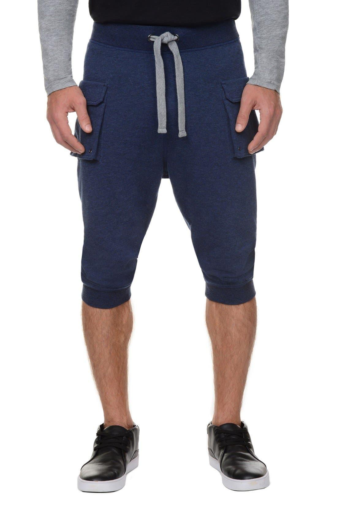 Crop Camo Pants,                         Main,                         color, Denim Heather