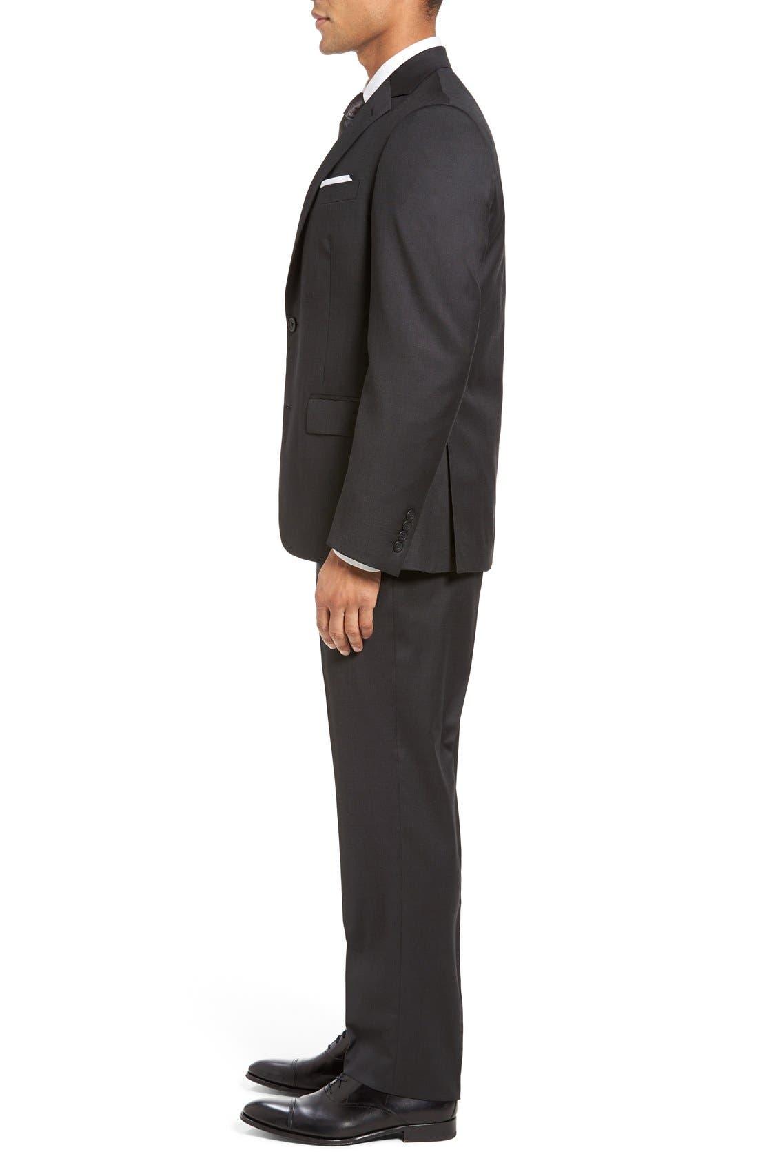 Alternate Image 3  - Nordstrom Men's Shop Classic Fit Solid Wool Suit