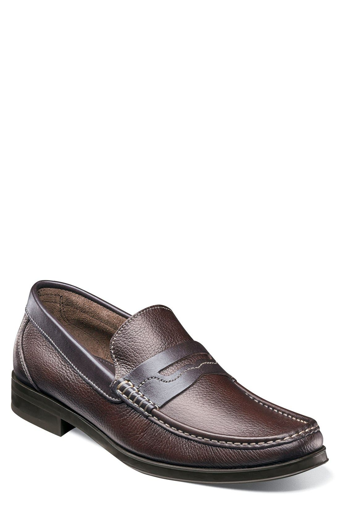 Westbrook Penny Loafer,                             Main thumbnail 1, color,                             Brown Milled Leather