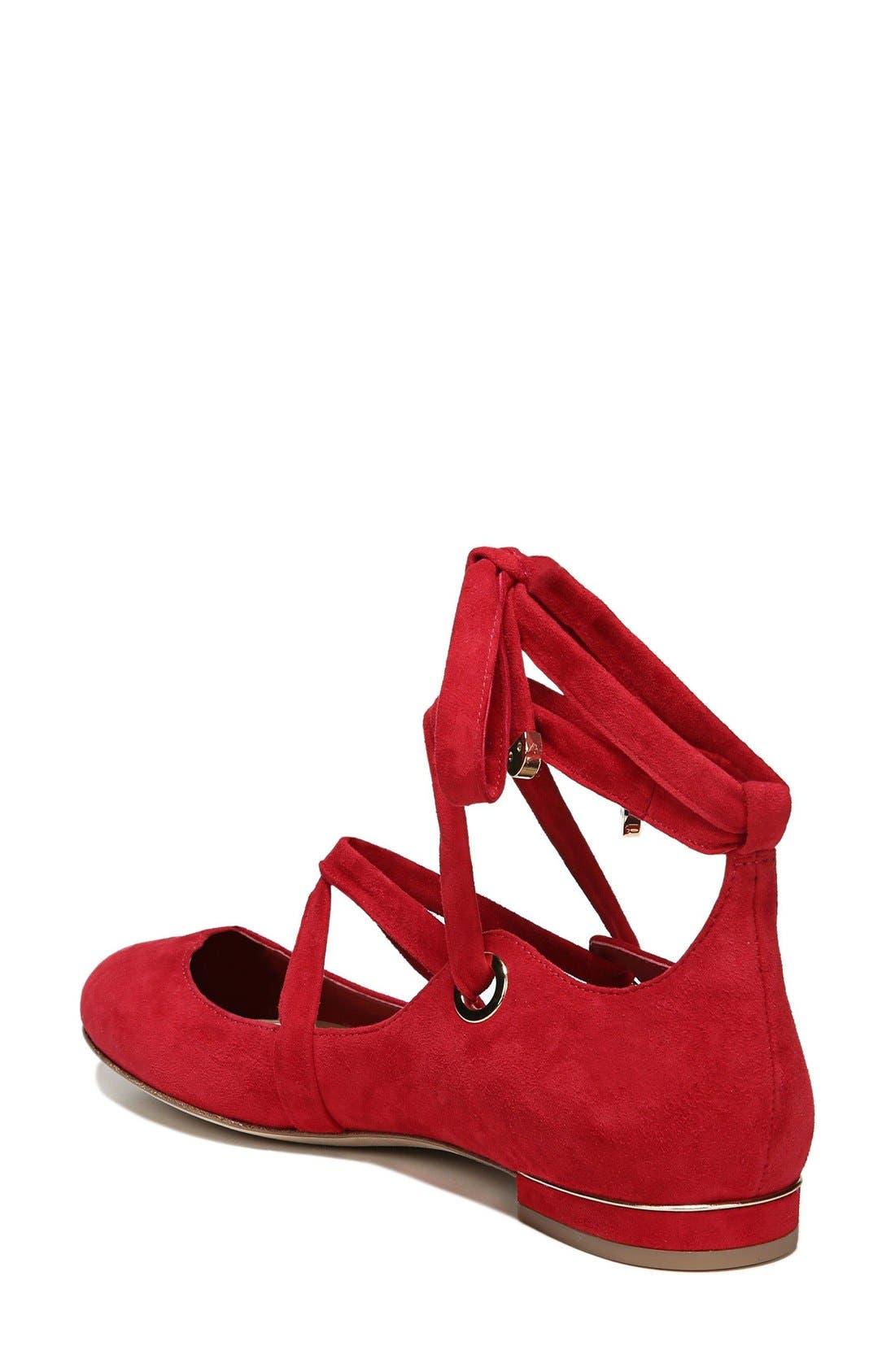 Alternate Image 2  - Diane von Furstenberg Dakar Ankle Tie Flat (Women)