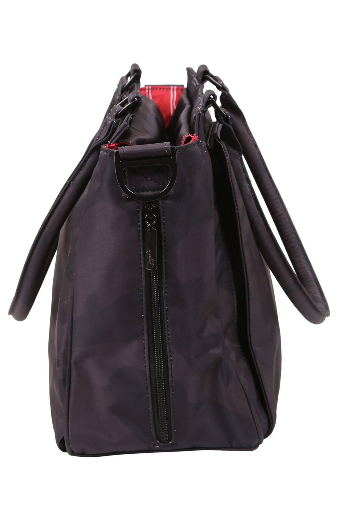 'Be Classy - Onyx Collection' Messenger Diaper Bag,                             Alternate thumbnail 3, color,                             Black Ops