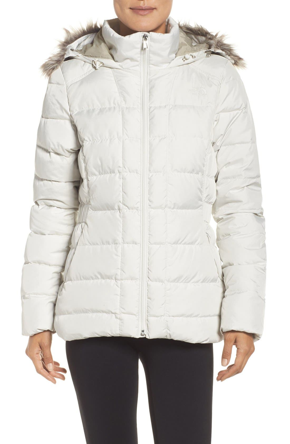 Alternate Image 1 Selected - The North Face 'Gotham' Faux Fur Trim Down Jacket