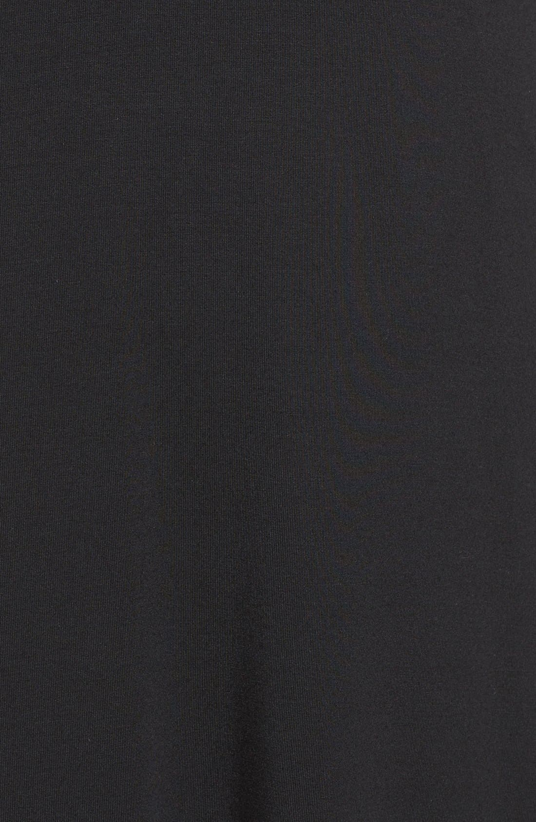 Sally Turtleneck A-Line Dress,                             Alternate thumbnail 5, color,                             Black