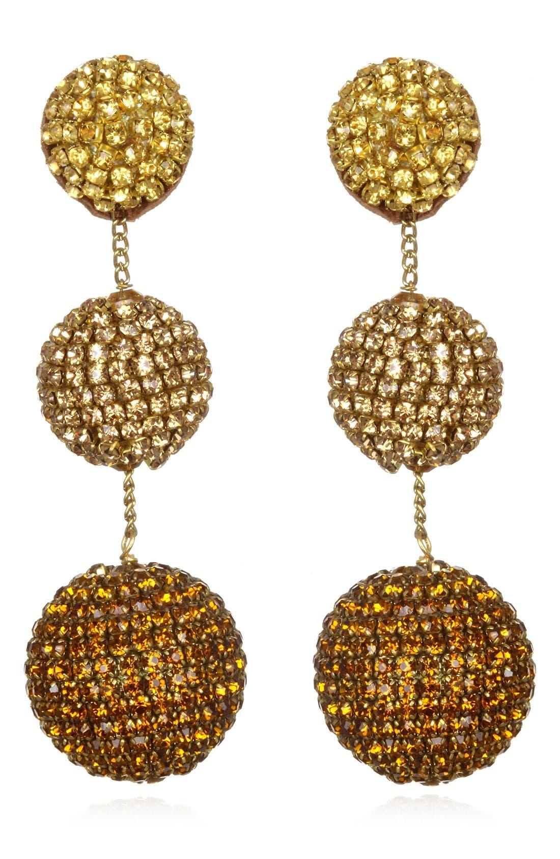 Alternate Image 1 Selected - Suzanna Dai Rhinestone Gumball Drop Earrings