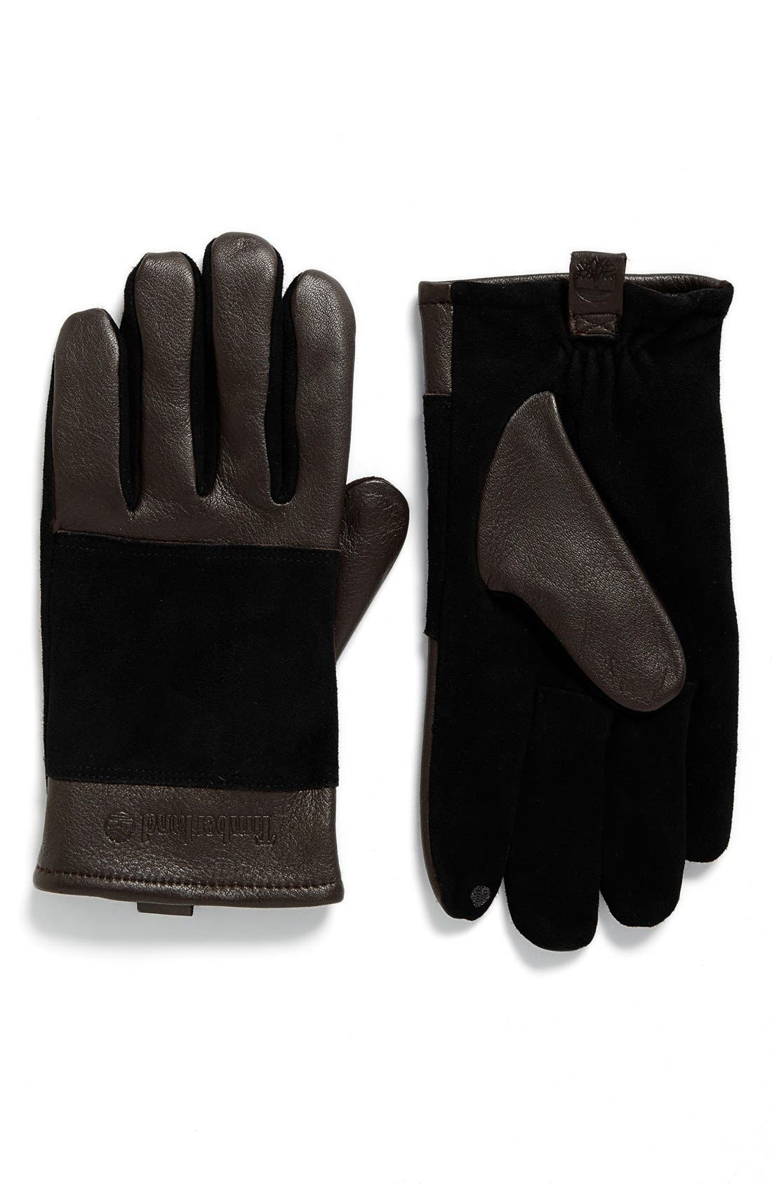 Suede Gloves,                         Main,                         color, Brown
