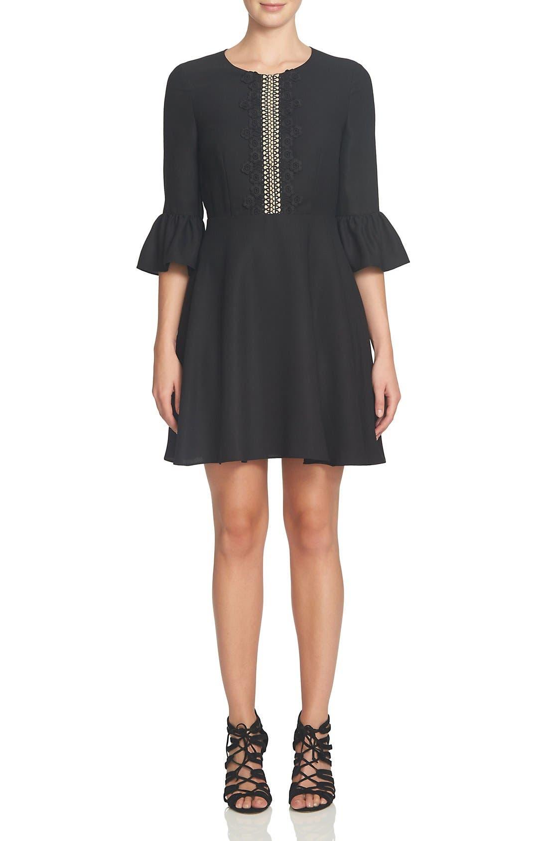 Alternate Image 3  - CeCe Laine Fit & Flare Dress (Regular & Petite)