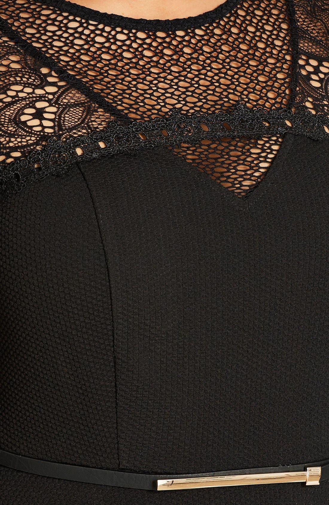 Lace Fever Dress,                             Alternate thumbnail 4, color,                             Black