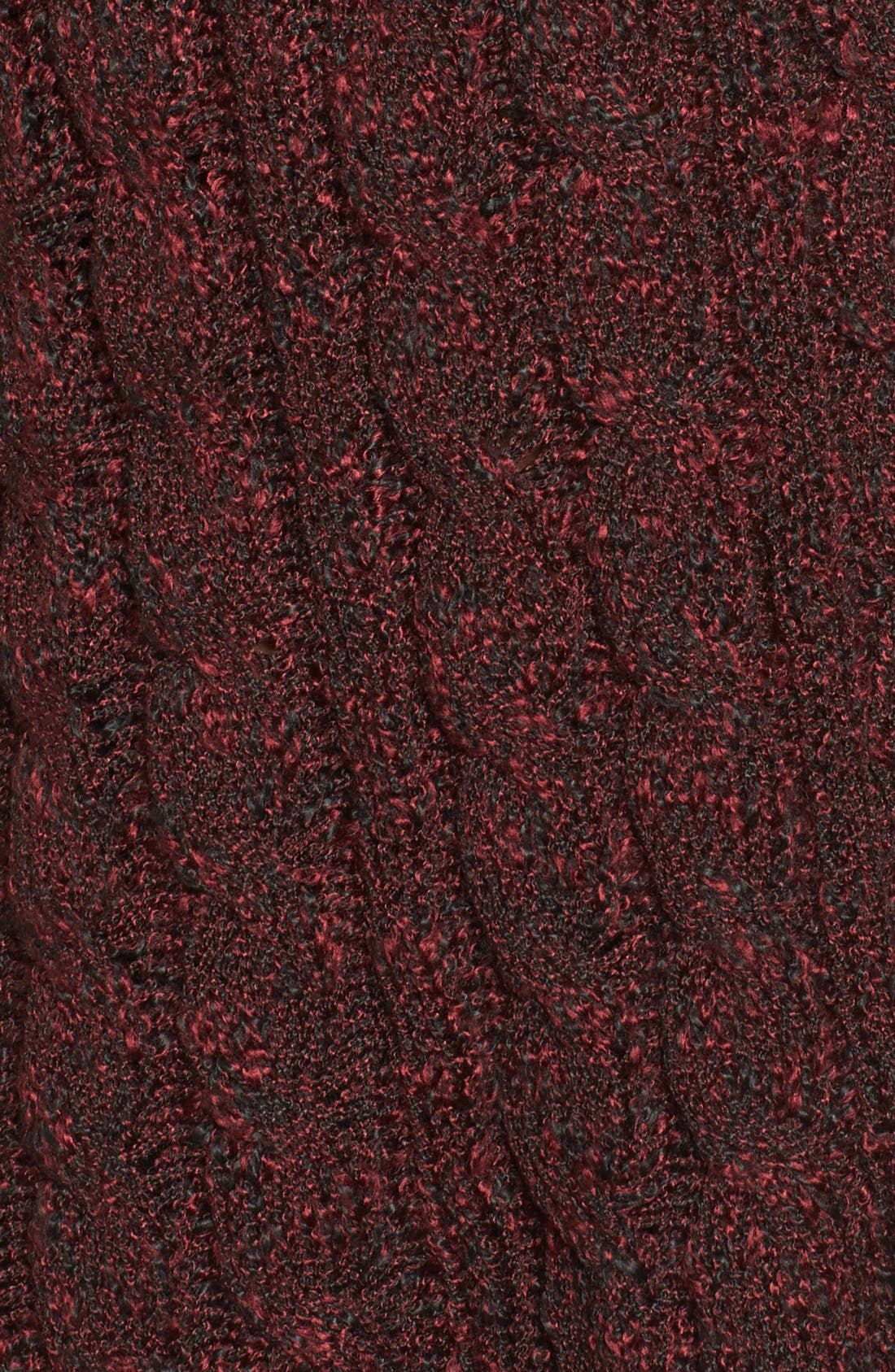 Marled Cable Knit Pullover,                             Alternate thumbnail 5, color,                             Burgundy/ Black Marl